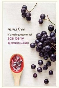 Маска для лица с соком ягод асаи - It's Real Squeeze Mask Acai Berry - Innisfree - 20 мл.