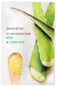 Маска для лица с экстрактом алоэ - It's Real Squeeze Mask Aloe - Innisfree - 20 мл.