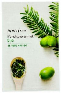 Маска для лица с маслом дерева торреи - It's Real Squeeze Mask Bija - Innisfree - 20 мл.