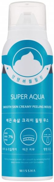 Разглаживающий пилинг-мусс - Super Aqua Smooth Skin Peeling Mousse - Missha - 100 мл.