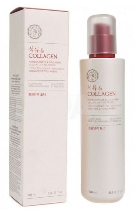 Лифтинг-тонер с экстрактом граната и коллагеном - Pomegranate and Collagen Volume Lifting Toner - The Face Shop - 160 мл.