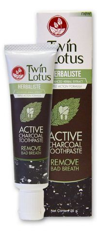Зубная паста с Углем - Herbaliste Active Charcoal Toothpaste - Twin Lotus - 25 гр.