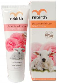 Крем для рук с экстрактом плаценты и маслом розы - Placenta Wild Rose Hand Cream - Rebirth - 75 мл.
