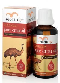 Чистое масло Эму - Platinum Pure Emu Oil - Rebirth - 50 мл.