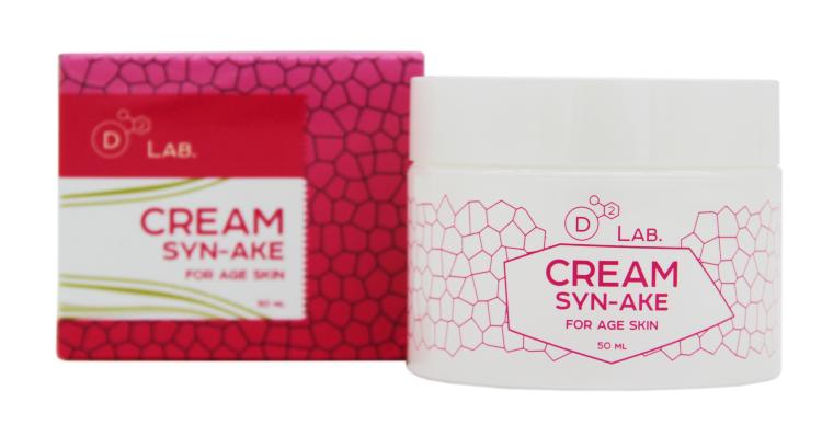 Крем для лица Змеиный пептид - Cream Syn-Ake for Age Skin - D2 Lab - 50 мл.