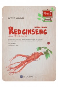 Маска для лица с экстрактом женьшеня - S+Miracle Red Ginseng Essence Mask - S+miracle - 1 шт.