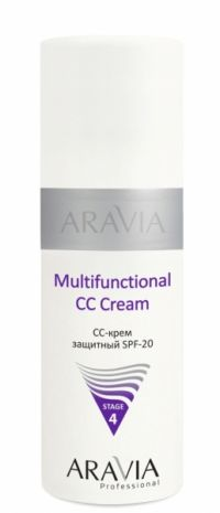 CC-крем защитный SPF-20 - Multifunctional CC Cream - Aravia-Professional - 150 мл.