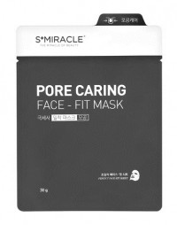 Маска для лица Очищающая - S+Miracle Pore Caring Face Fit Mask - LS Cosmetic - 30 гр.