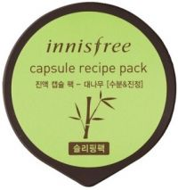 Ночная маска для лица с экстрактом бамбука - Capsule Recipe Pack Bamboo Sleeping Pack - Innisfree - 10 мл.