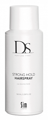 Лак сильной фиксации - DS Perfume Free Cas Strong Hold Hairspray - Sim Sensitive - 100 мл.