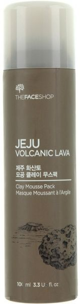 Глиняная маска для лица - Jeju Volcanic Clay Mousse Pack - The Face Shop - 100 мл.